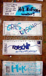 etiketten voor waterflessen ontwerpen