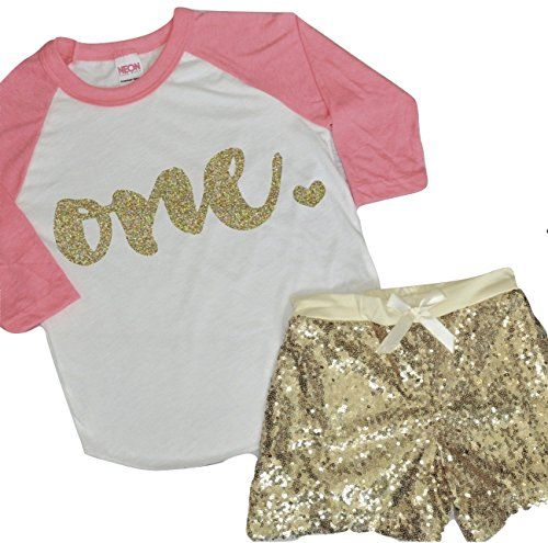 Baby Girl First Birthday Outfit Girl One Year Old Birthday Shirt and Shorts 612 months *** Want to know more, click on the image.