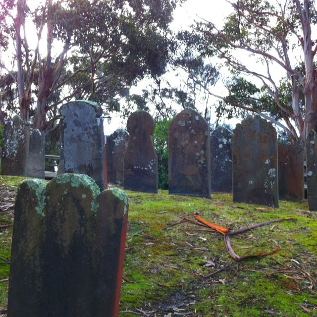 Isle Of The Dead  Port Arthur Tasmania.