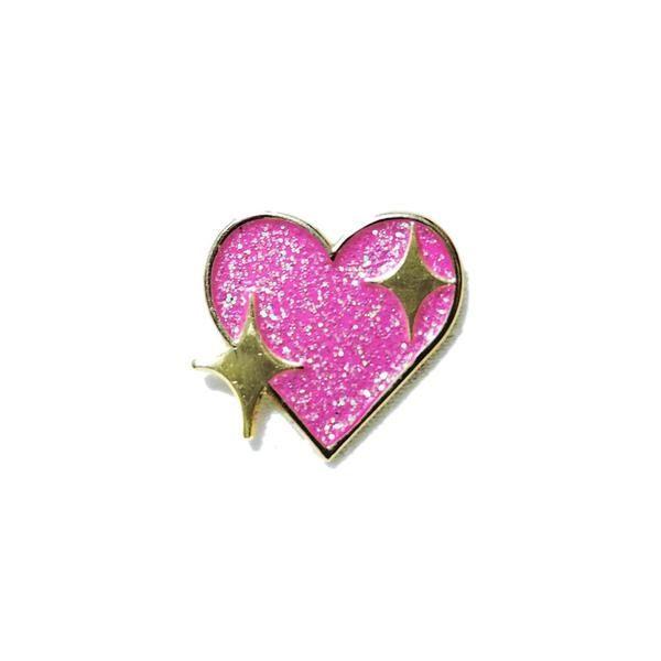 'Sparkling Heart Emoji' Pin – Gimme Flair