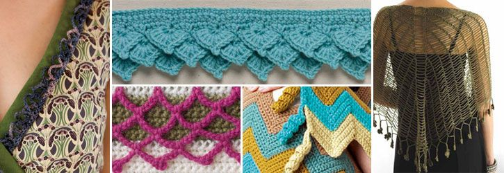 Learn to create each of these with the free crochet border patterns in this eBook.