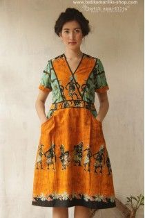 batik amarillis's primavera dress