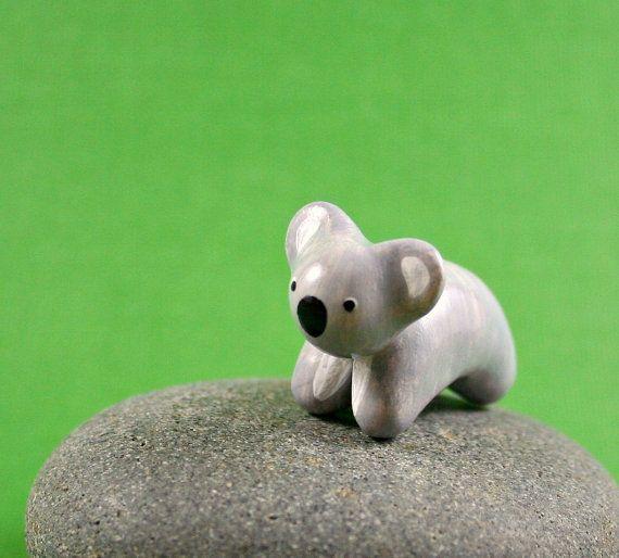 Motion Koala - Hand Sculpted Miniature Polymer Clay Animal