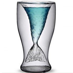 SHARE & Get it FREE   Creative Transparent Double-Layered Fishtail Design 300ml Glass CupFor Fashion Lovers only:80,000+ Items • New Arrivals Daily • Affordable Casual to Chic for Every Occasion Join Sammydress: Get YOUR $50 NOW!
