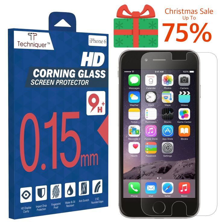 """Christmas Sale! Up to 75% Off: iPhone 6 Corning Gorilla Tempered Glass Screen Protector Kit[4.7""""] ONLY 0.15mm,9H,Oleophobic Surface,2.5D,Anti-Scratch,Anti-Glare,Fingerprint-Proof,& Water Resistant. Only @ Amazon http://www.amazon.com/Corning-Gorilla-Tempered-Protector-Thinnest/dp/B00RK7OPZC"""