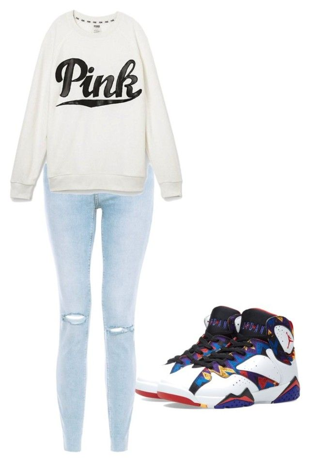 """""""My outfit"""" by karenangustia on Polyvore featuring Jordan Brand and Victoria's Secret"""