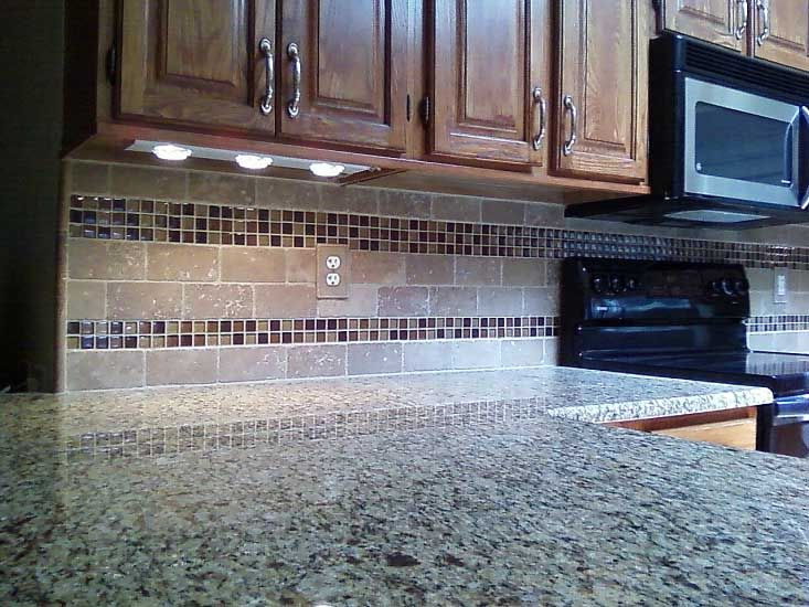 Glass tile backsplash edge dream home pinterest Kitchen tile design ideas backsplash