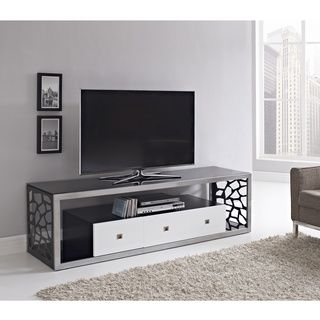black glass modern 70inch tv stand thick
