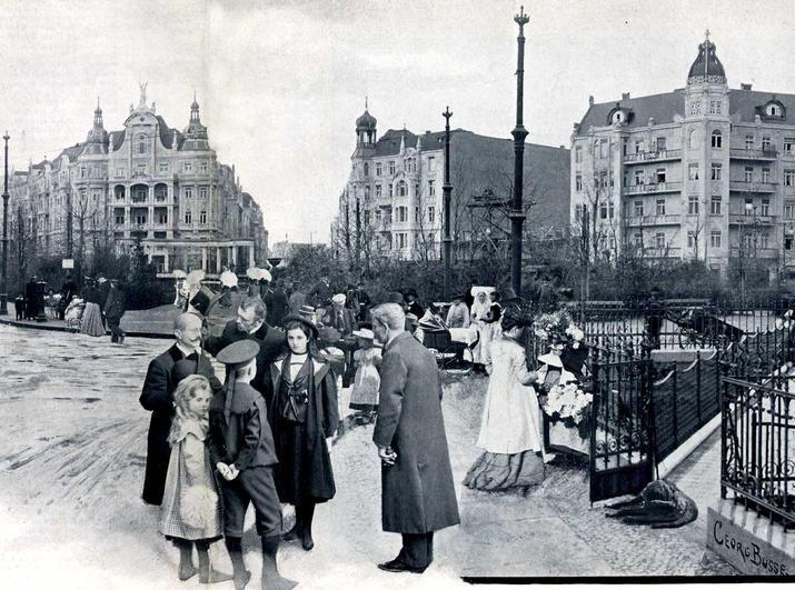 1902 Berlin - Viktoria-Luise-Platz in Schöneberg 1902