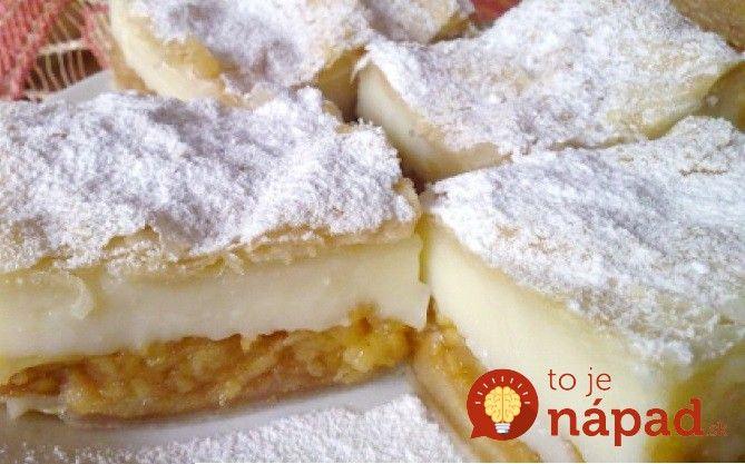Máte chuť na skutočne vynikajúci domáci dezert? Vyskúšajte tento fantastický koláč z lístkového cesta, jabĺk a lahodného pudingového krému.