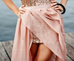 So Beautiful!~: Minis Dresses, Fashion, Skirts, Style, Pale Pink, Saia Mini-Sequins, Blushes, Sparkly Dresses, High Low