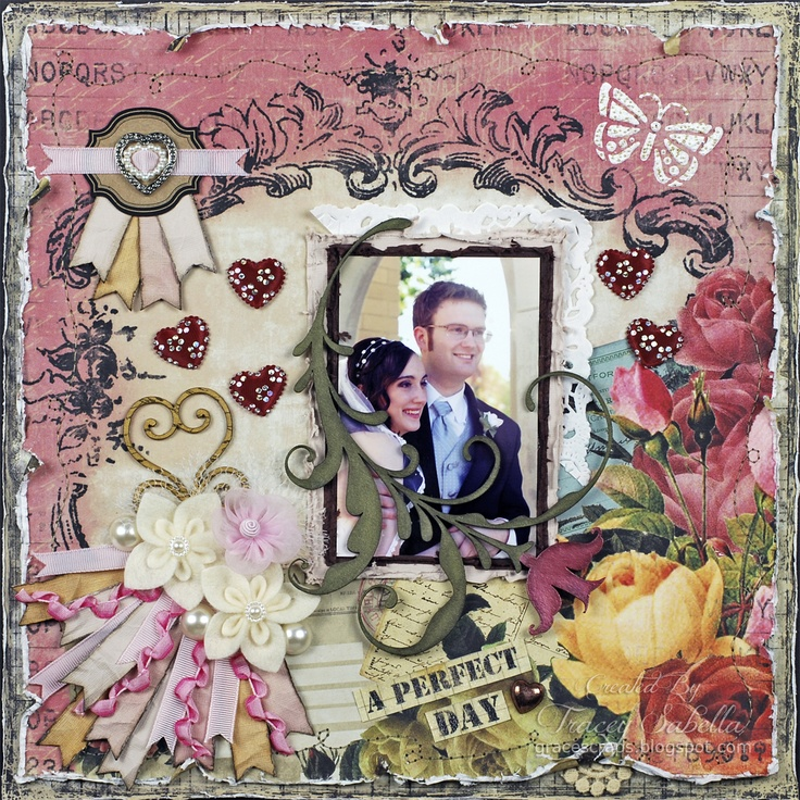 """A Perfect Day"" ***ScrapThat! February ""With Love"" Kit Reveal DT*** - Scrapbook.com"