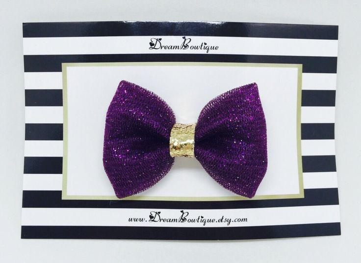 Purple Glitter Tulle Hair Bow, Gold Hair Bow, Purple Glitter Hair Bow, Gold Glitter Hair Bow, Purple Hair Bow, Gold Tulle Hair Bow by DreamBowtique on Etsy https://www.etsy.com/listing/255123640/purple-glitter-tulle-hair-bow-gold-hair