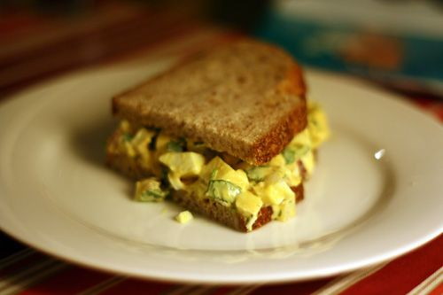 Curried egg salad - for all those Easter eggs... I love the ingredients in this!