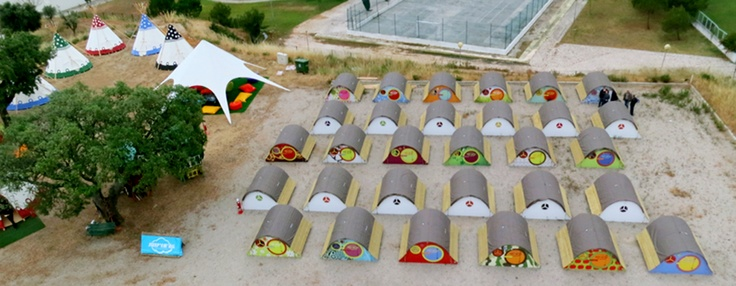 Our Campsite -Aerial View