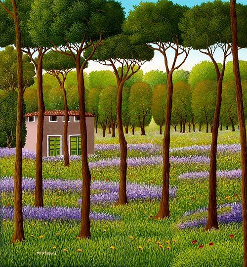 Naive art by Cesare Marchesini