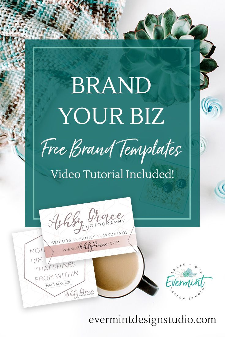 Brand Your Biz with a FREE Business Card Design & Social Media Templates! Get a Business Card Design, Instagram Template and Blog Post Template + Video Tutorials to learn how to customize them for your business! Visit www.evermintdesignstudio.com