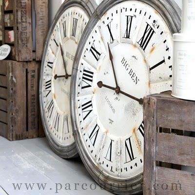 love huge clocks - so excited to hang our new one!