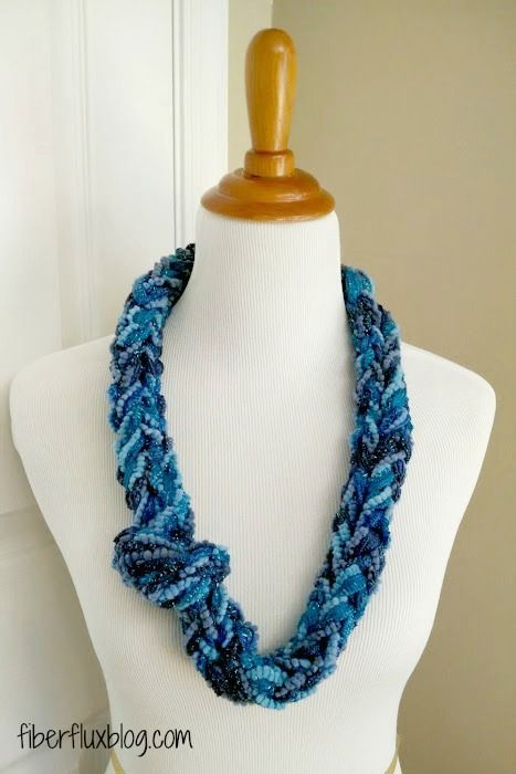 The Finger Knit Sparkle Cowl is a fast, fun, and easy project. The cowl uses popular ruffle yarn in...