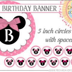 Results For Free Printable Minnie Mouse Birthday Banner Template