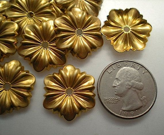 12 Brass Mirror Rosettes No 3 By Timeandmaterials On Etsy