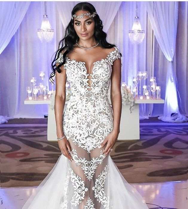 The Beautiful Ashley Nicole Miami WAGS Star In Lena Berisha Dress #lenaberishawhite#tbt#brides ...