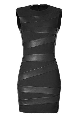 Black banded Neil Barrett dress