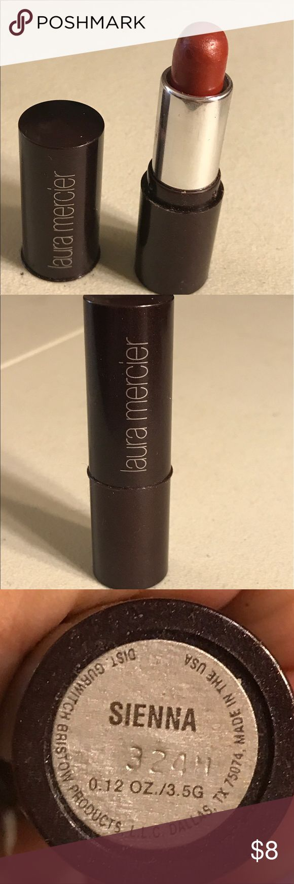 Laura Mercier lipstick Laura Mercier lipstick in color sienna, used. Thanks for checking out Luxury1cosmetics!! Offers are welcomed, bundles are discounted!! laura mercier Makeup Lipstick