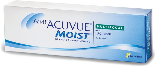 1-Day Acuvue Moist Multifocal Contact Lenses