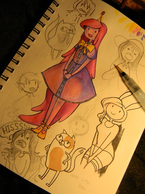 Adventure Time drawings... Sooo cool :D
