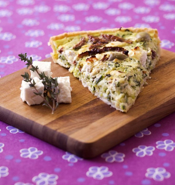 Tarte méditerranéenne aux courgettes, feta et olives - Ôdélices : Recettes de cuisine faciles et originales !