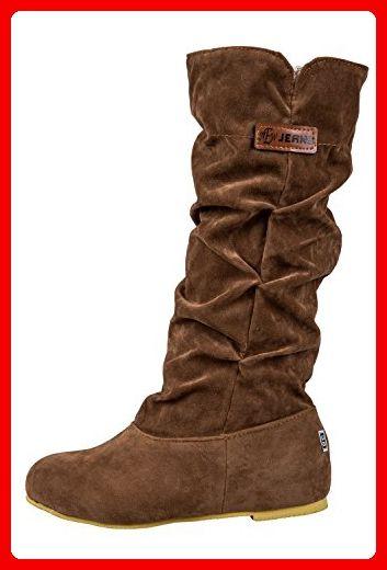 SODIAL (R)Neue Fashion mittler breit Wade latschig beilaeufig Kniehohe Stiefel braun 36 - Stiefel für frauen (*Partner-Link)