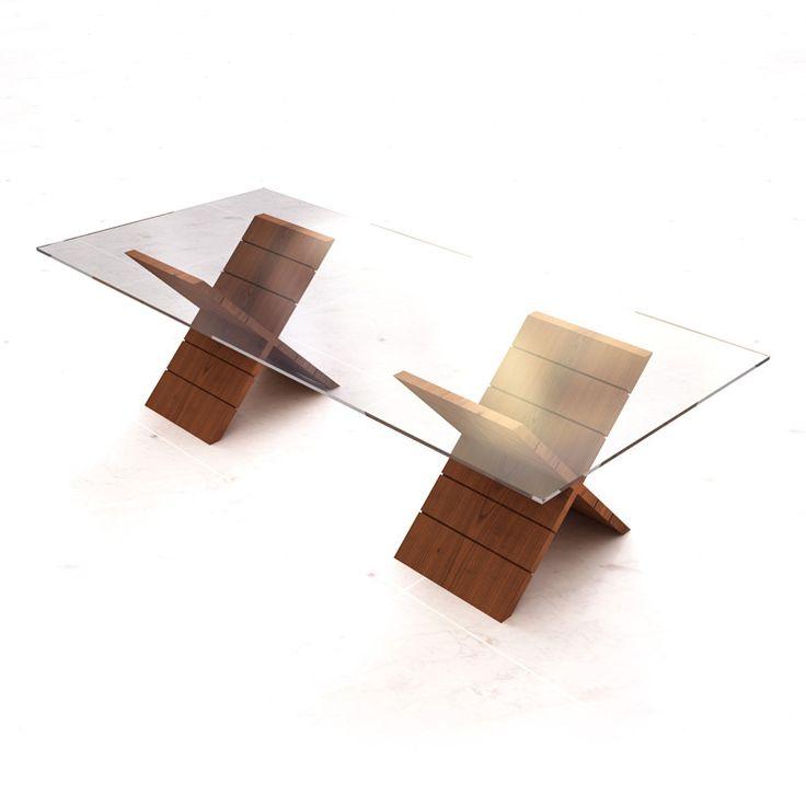 25 melhores ideias de mesa vidro no pinterest mesa for Bases para mesas de centro