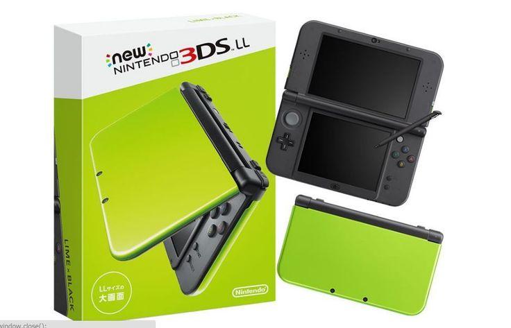 Pre-Order NEW Nintendo 3DS LL XL Lime Green / Black Console Japan ver 2016 #Nintendo