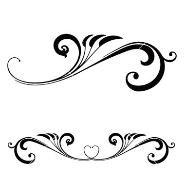Free Scroll Work Images | Valentines day scroll vector 83508 - by calamityjane