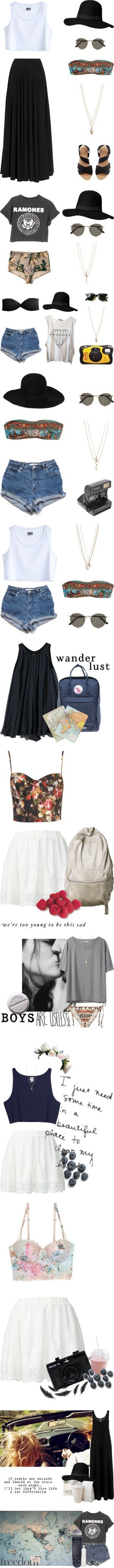 There is something so appealing about these outfits. Some girly and sweet, innocent. And some rebellious and unapologetically 90's grunge wonderfulness. I'd rock them all.: