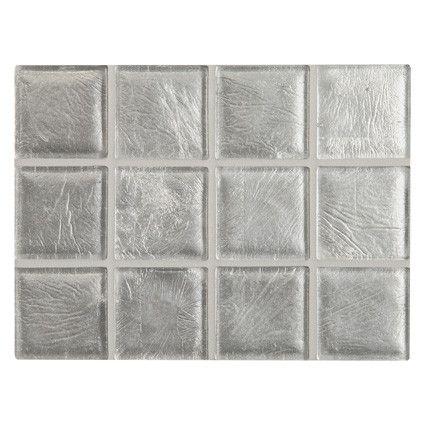 Windgl Handmade Mosaic Tile 2 X In Silver Leaf Natural Finish