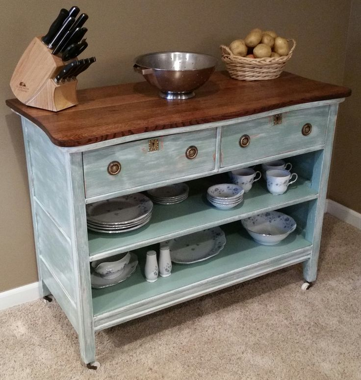 Kitchen Island Made From Antique Buffet: 46 Best Images About Upcycle Furniture Into A Kitchen Island On Pinterest