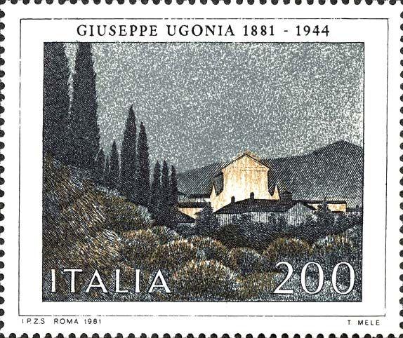 Emesso il 7 settembre 1981 200 L. - Sera di festa, di Giuseppe Ugonia