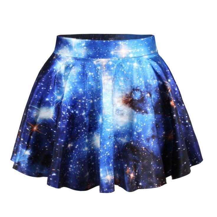 Space galaxy digital printing skirt BA721EI