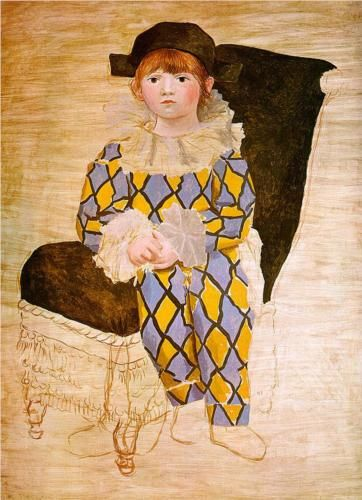 Paul as harlequin - Pablo Picasso. 1924