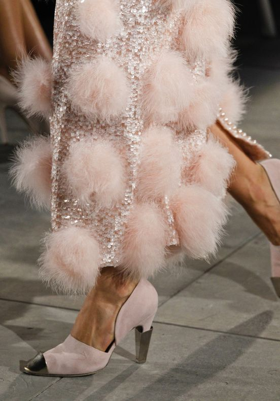 chanel 2013: Fashion Shoes, Chanel, Fashion Models, Dresses, Pink, Girls Fashion, Girls Shoes, Pom Pom, Haute Couture