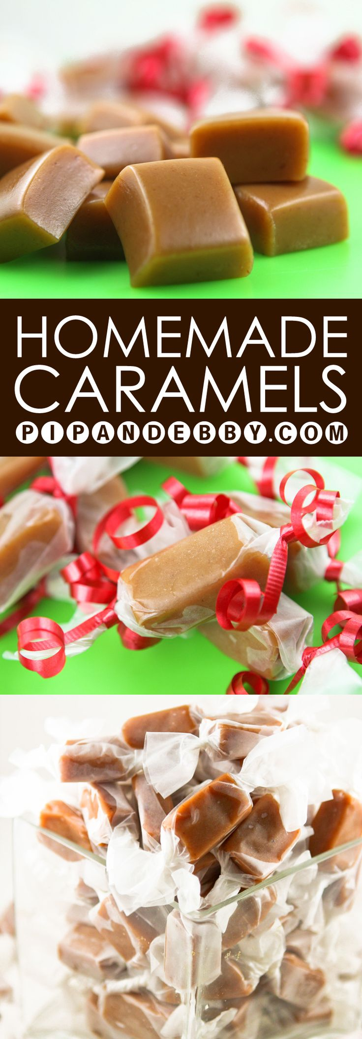 Homemade Caramels | This is my FAVORITE holiday treat. These caramels are to DIE for.