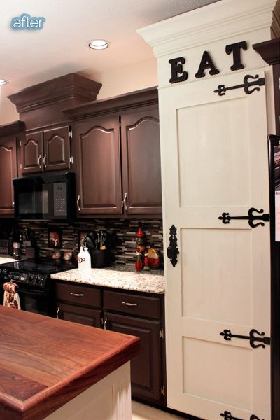 Brown Painted Cabinets