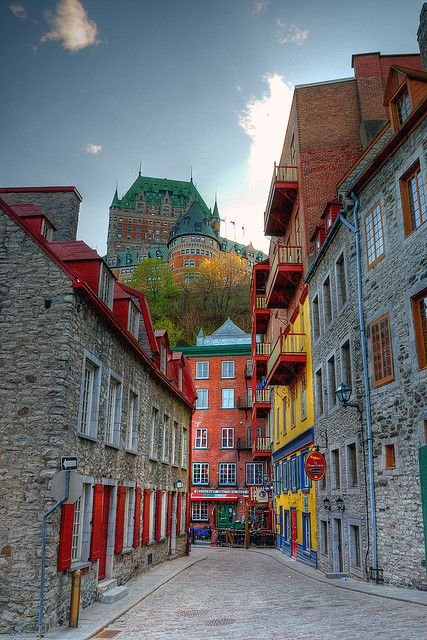 Lower town, Old Quebec City: