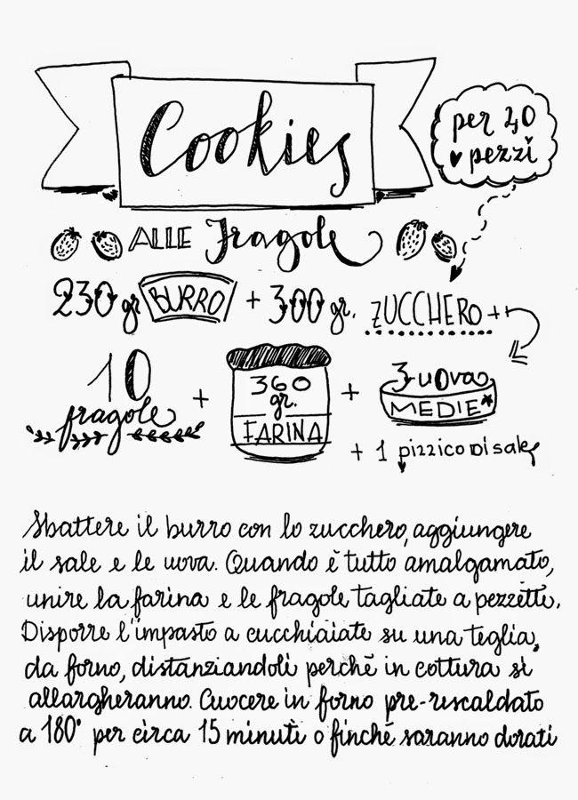 Il Castello di Zucchero: voglio scrivere in questo modo le ricette sul mio nuovo quadernino