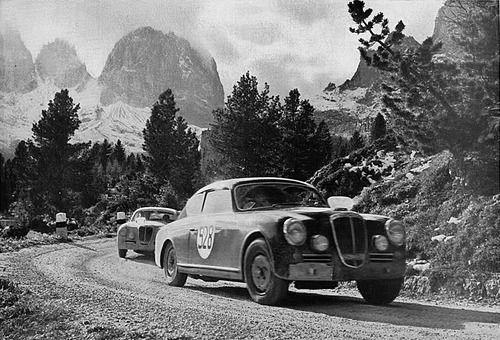 Rallye des Alpes 1953 . Lancia GT2500 :: jacqalan: