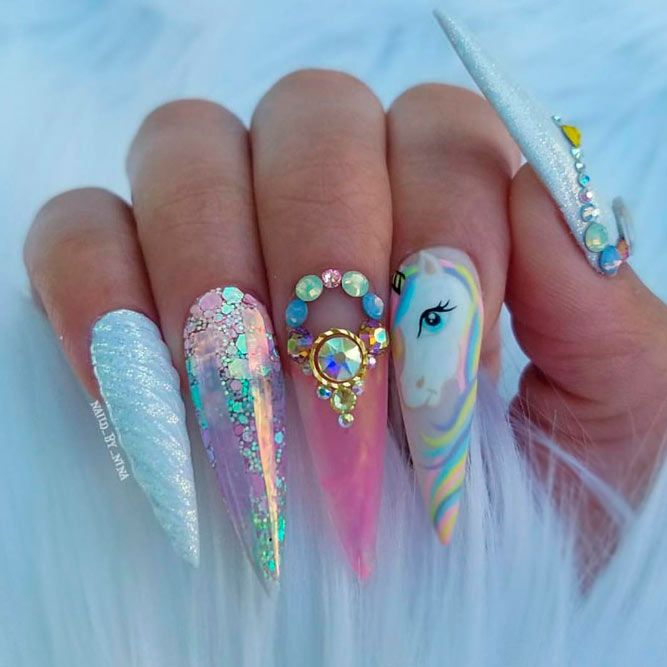 Best Stiletto Nails Designs Trends for You ★ See more: https://naildesignsjournal.com/stiletto-nails-designs-trends/ #nails