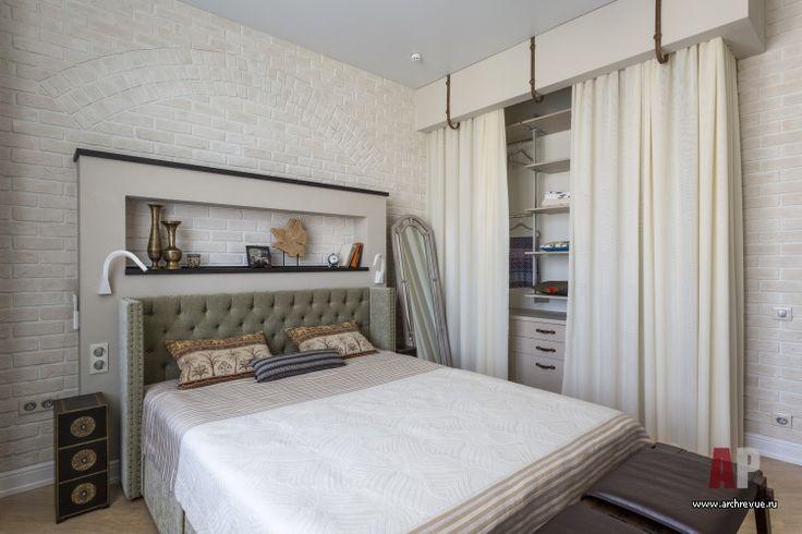 Фото интерьера спальни квартиры в стиле лофт