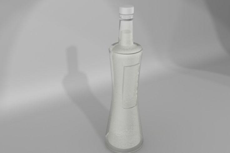 Alcohol bottle rendering